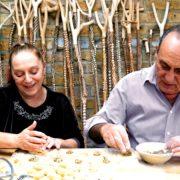 Gennaro & Adriana making pasta
